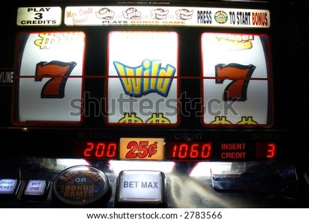 slot machine winnings - stock photo