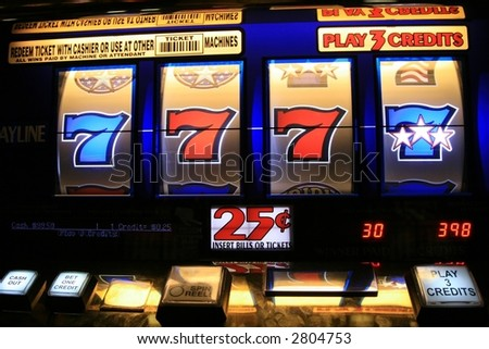 slot machines can cause addiction - stock photo