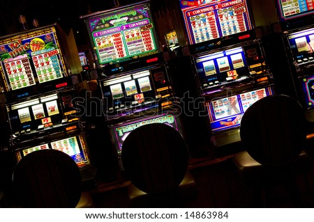 Slot machines, Las Vegas, Nevada - stock photo