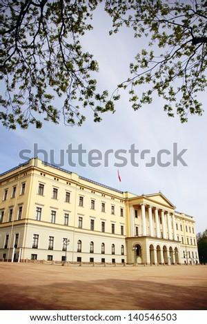 Slottet (Royal Palace), Oslo, Norway - stock photo