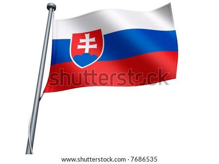 Slovakia Flag - stock photo