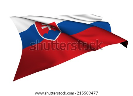 Slovakia flag - collection no_5  - stock photo