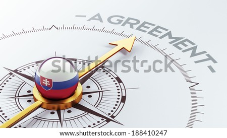 Slovakia High Resolution Agreement Concept - stock photo