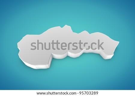 Slovakia Map - stock photo