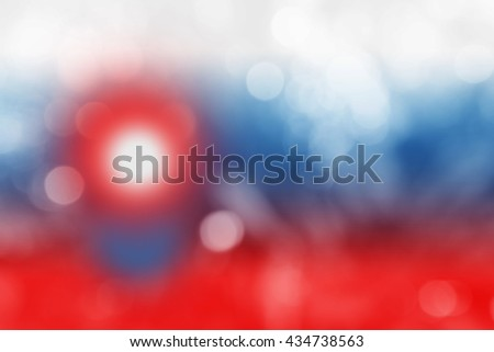 SLOVAKIA : National flag. Soft blurred bokeh natural background. Abstract gradient desktop wallpaper. - stock photo