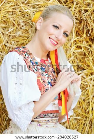Slovakian folklore - stock photo