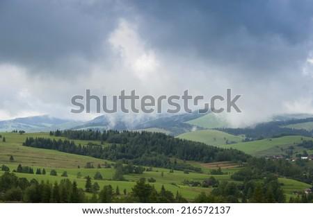 Slovakian Tatra Mountains - stock photo