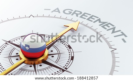 Slovenia High Resolution Agreement Concept - stock photo