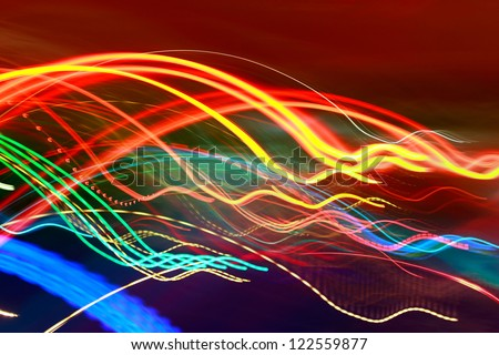 SLOW SPEED LIGHT PAINTING BACKGROUND - stock photo