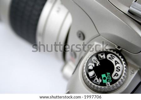 SLR camera control - stock photo