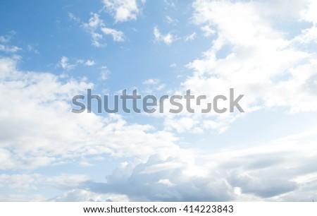 sluds blue sky, day landscape - stock photo