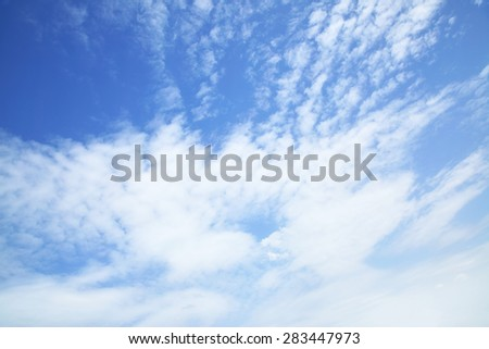 Sly and clouds panoramic view - stock photo