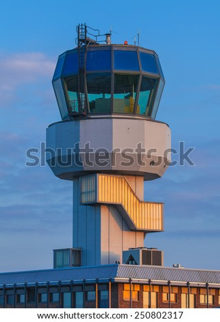 Small Air Traffic Control Tower  - stock photo