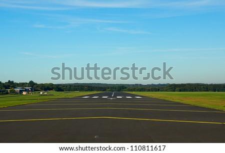 Small airstrip in germany (eifel) - stock photo