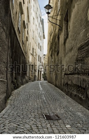 Small Alleyway - stock photo