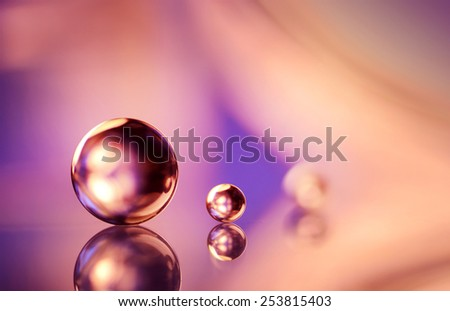 small and big marble - stock photo