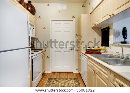 Small apartment kitchen - stock photo