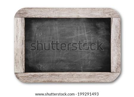Small black chalkboard - stock photo