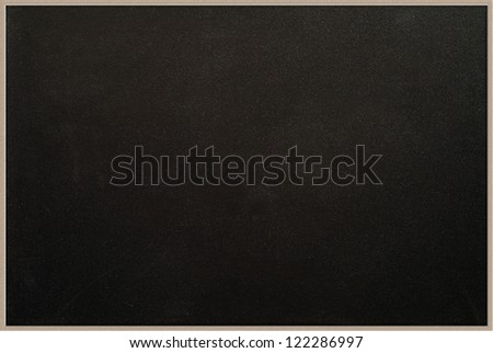 Small blackboard with wooden frame - stock photo