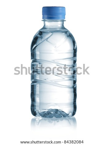 Small bottle of water - stock photo
