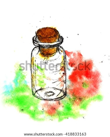 Poison Bottles Drawing Stock Photos, Images, & Pictures   Shutterstock
