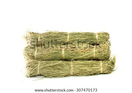 Small Bound Hay Bales or Haystacks for  small pets - stock photo