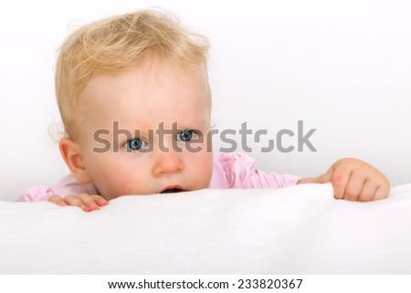 Small child portrait - stock photo