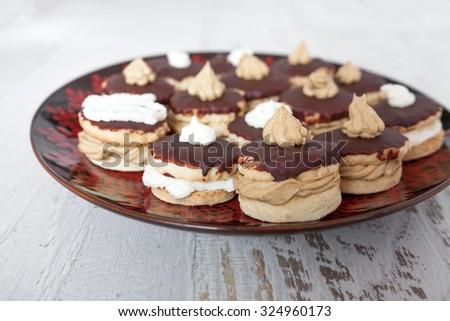 Small Chocolate Cake - stock photo