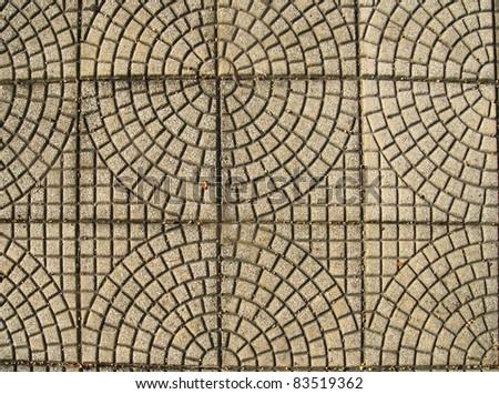 small concrete tile floor - stock photo