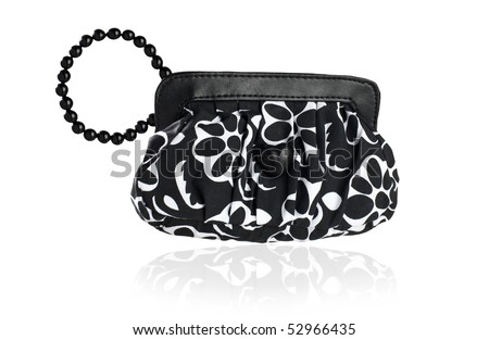 Small contemporary black and white back on white background - stock photo
