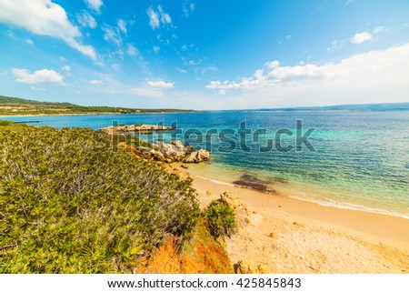 small cove in Alghero coastline, Sardinia - stock photo