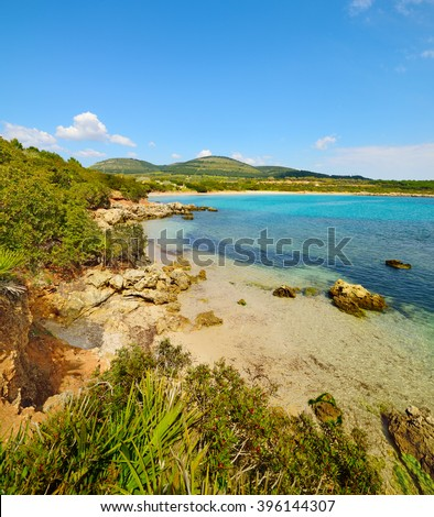 small cove in Alghero, Sardinia - stock photo
