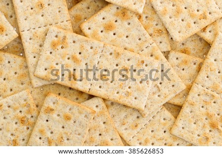 Small crackers isolated on a white background - stock photo