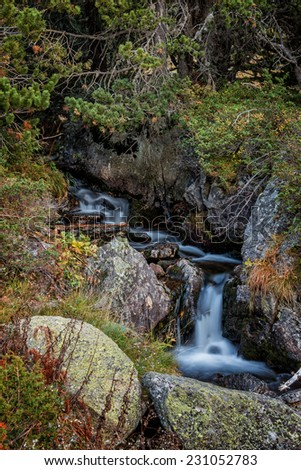 Small creeck in the mountain in Andorra (Pyreness) - stock photo
