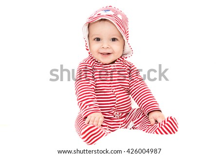 small cute baby boy - stock photo