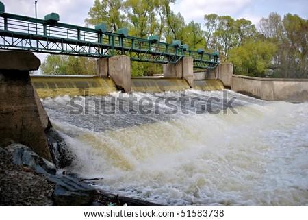 small dam - stock photo