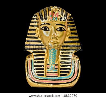Small decorative statue of a Pharaoh - stock photo