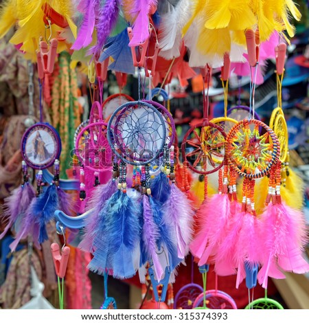Small dream catchers - stock photo