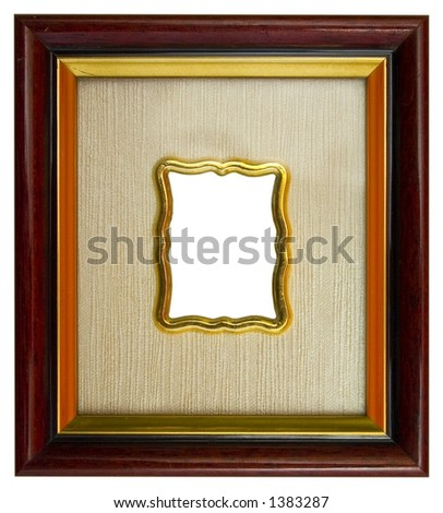 Small empty picture frame - stock photo
