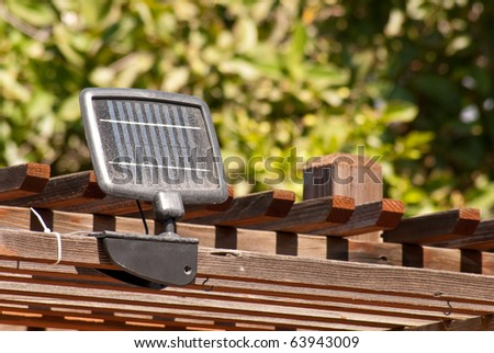 Small Energy Saving Solar Panel - stock photo