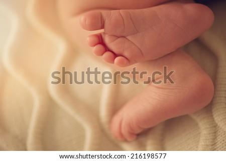 Small feet - stock photo