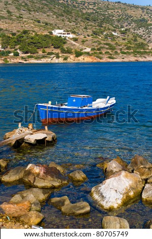 small fishing boat - stock photo