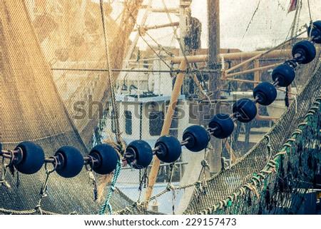 Small fishing harbor - stock photo