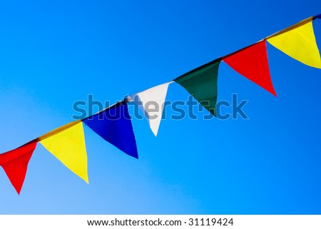 Small flags abstract background - stock photo