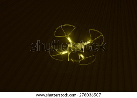 Small flying in the sky, closeup of photo - stock photo
