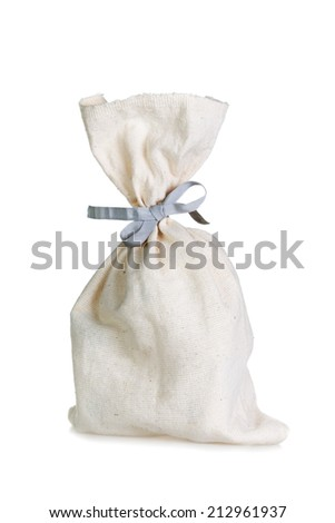small full sack isolated on white background - stock photo