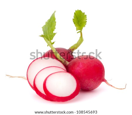 Small garden radish isolated on white background cutout - stock photo
