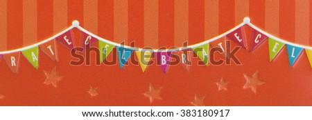 Small gift: Celebration box isolated over white background, close-up - stock photo