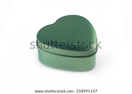 small green steel give box isolated in white - stock photo