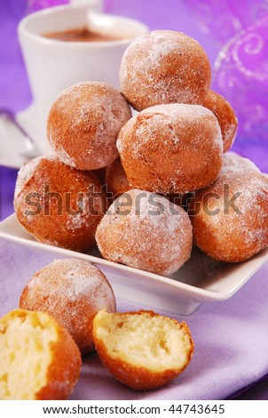 small homemade donuts for party - stock photo